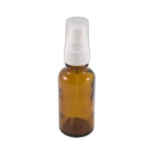 Flacon verre brun 30ml vaporisateur blanc