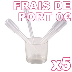 5 pipettes 3ml (Pack Minima)