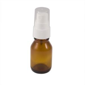 Flacon verre brun 15ml vaporisateur blanc