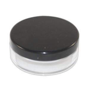 Pot poudrier 10ml transparent couvercle noir