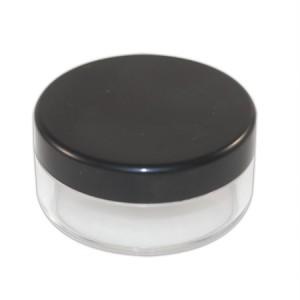 Pot poudrier 5ml transparent couvercle noir