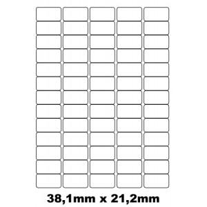 Etiquettes autocollantes 38.1mm x 21.2mm