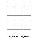 Etiquettes autocollantes 63.5mm x 38.1mm
