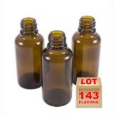 Lot de 143 flacons brun 30ml