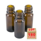Lot de 180 flacons verre brun 10ml