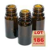 Lot de 186 flacons brun 5ml