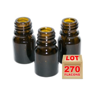 Lot de 270 flacons brun 2.5ml