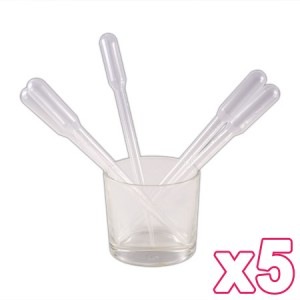 5 pipettes 3ml