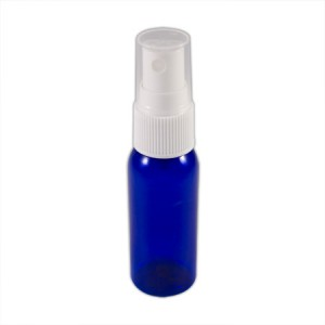 Flacon bleu 30ml vaporisateur blanc