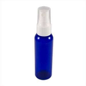 Flacon bleu 60ml vaporisateur blanc