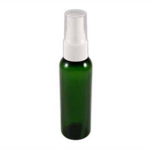 Flacon vert 60ml vaporisateur blanc