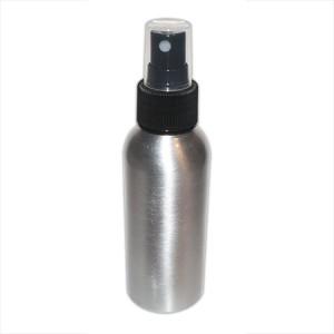 Flacon aluminium 100ml vaporisateur noir