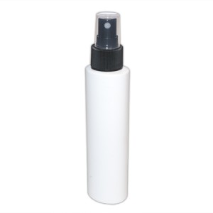 Flacon blanc oval 100ml vaporisateur noir