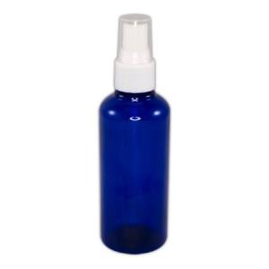 Flacon bleu 100ml vaporisateur blanc