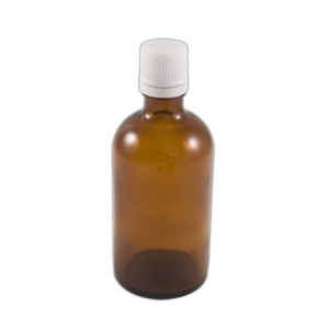 """Flacon codigoutte 100ml verre brun """"huile"""""""